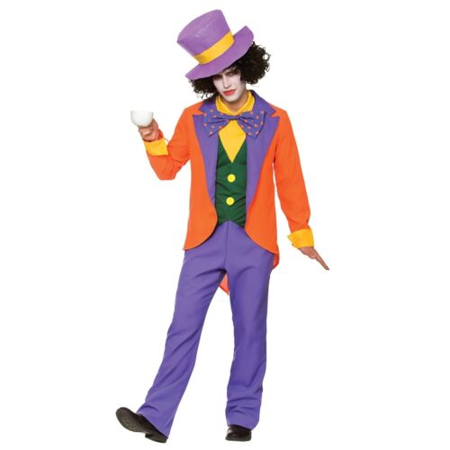 Mens Wonderland Film Book Wicked Fancy Dress Halloween Costume NEW Mad Hatter