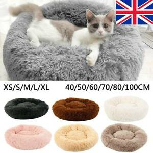 Dog-Pet-Cat-Calming-Bed-Beds-Large-Mat-Comfy-Puppy-Washable-Fluffy-Cushion-Plush