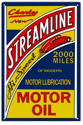 Reproduction Charley Streamline 2000 Motor Oil Sign
