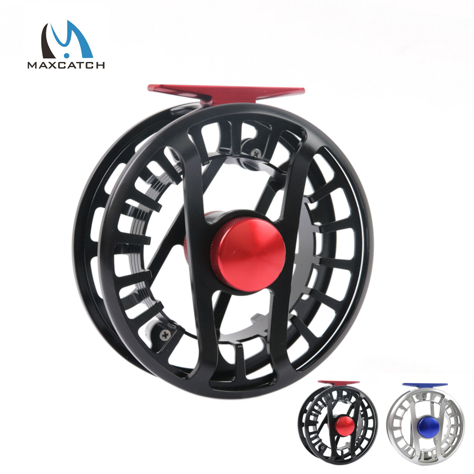 Maxcatch FLY REEL 5/6 11/13 7/9 9/11 11/13 5/6 WT saltwaterproof Large Arbor in alluminio fc0401