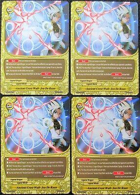 "1 MINT CARD 1x /""FOIL/"" Ancient Crest Wall Jeu De Raan  Buddyfight Promo"