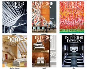 Interior Design Magazin Lot 12 Hefte Jahr Jan 2017-Dez 2017 & 2 Guide & 2 Häuser