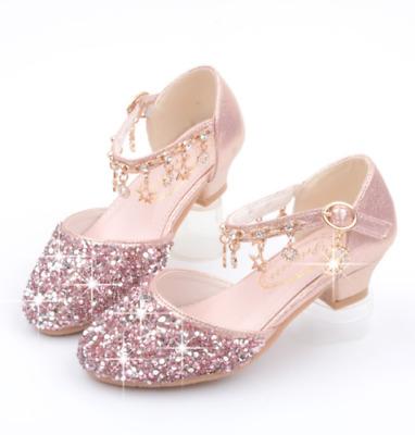 Kinder Mädchen Absatz Schuhe Hochzeit Abschlussball Prinzessin Bling Schuhe New