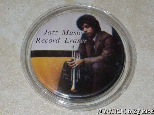 VINTAGE 80s PRINCE CASED JAZZ RECORD ERASER MINT COND.