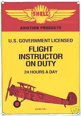 ar Shell Flight Instructor steel fridge magnet