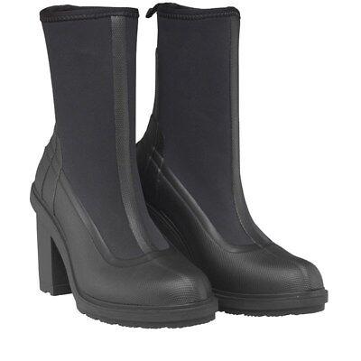 hunter womens high heel sock boots black uk 3 eu 36