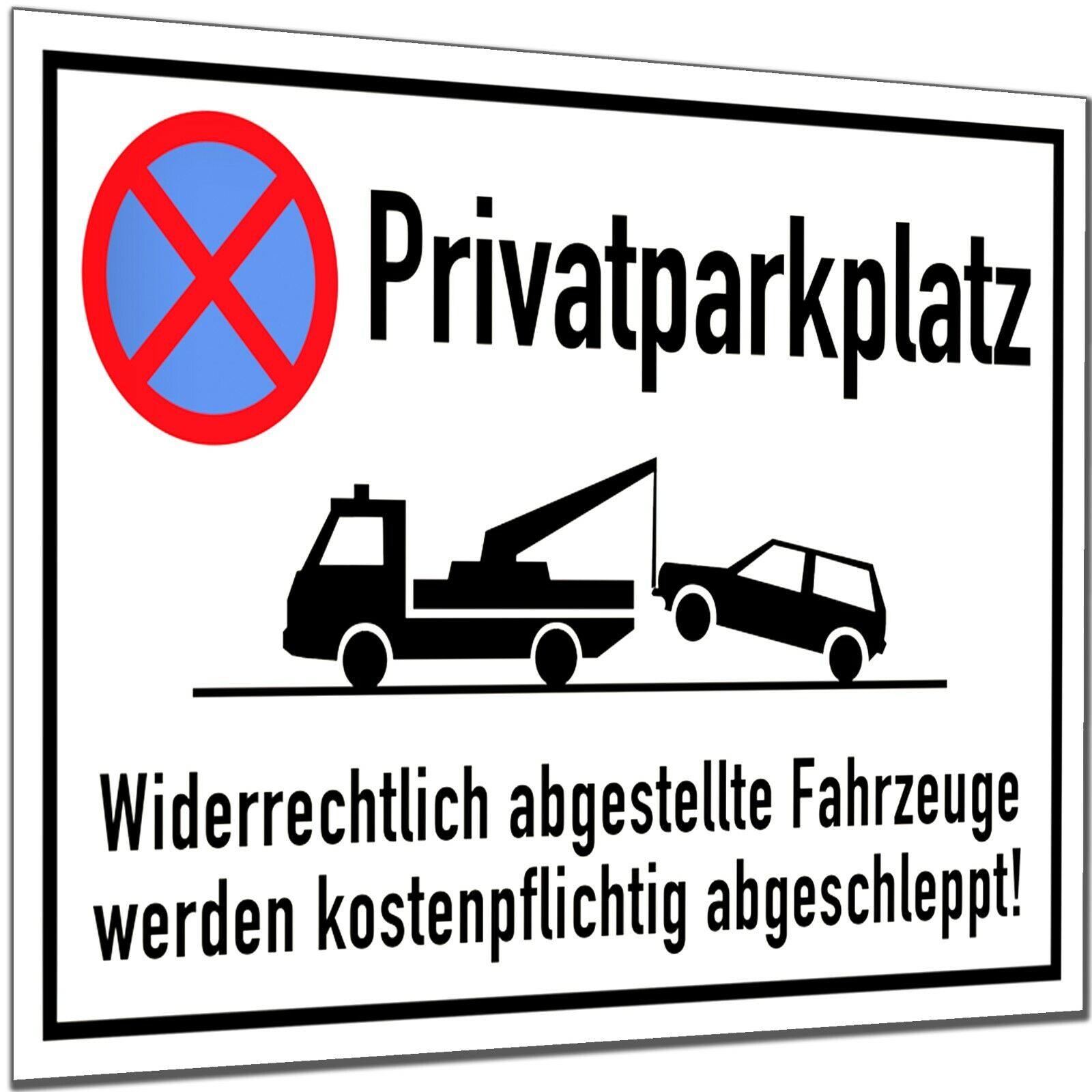 Halteverbot Schild Parken verboten Parkverbot Hinweis Hartschaum 30x20cm 3mm