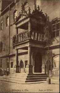 1916 Stempel HALLE Saale auf Feldpostkarte 1. Weltkrieg WITTENBERG AK m. Rathaus