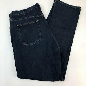 Kirkland-Signature-Jeans-Mens-40X34-Dark-Blue-Straight-Leg-Cotton-Dark-Washed