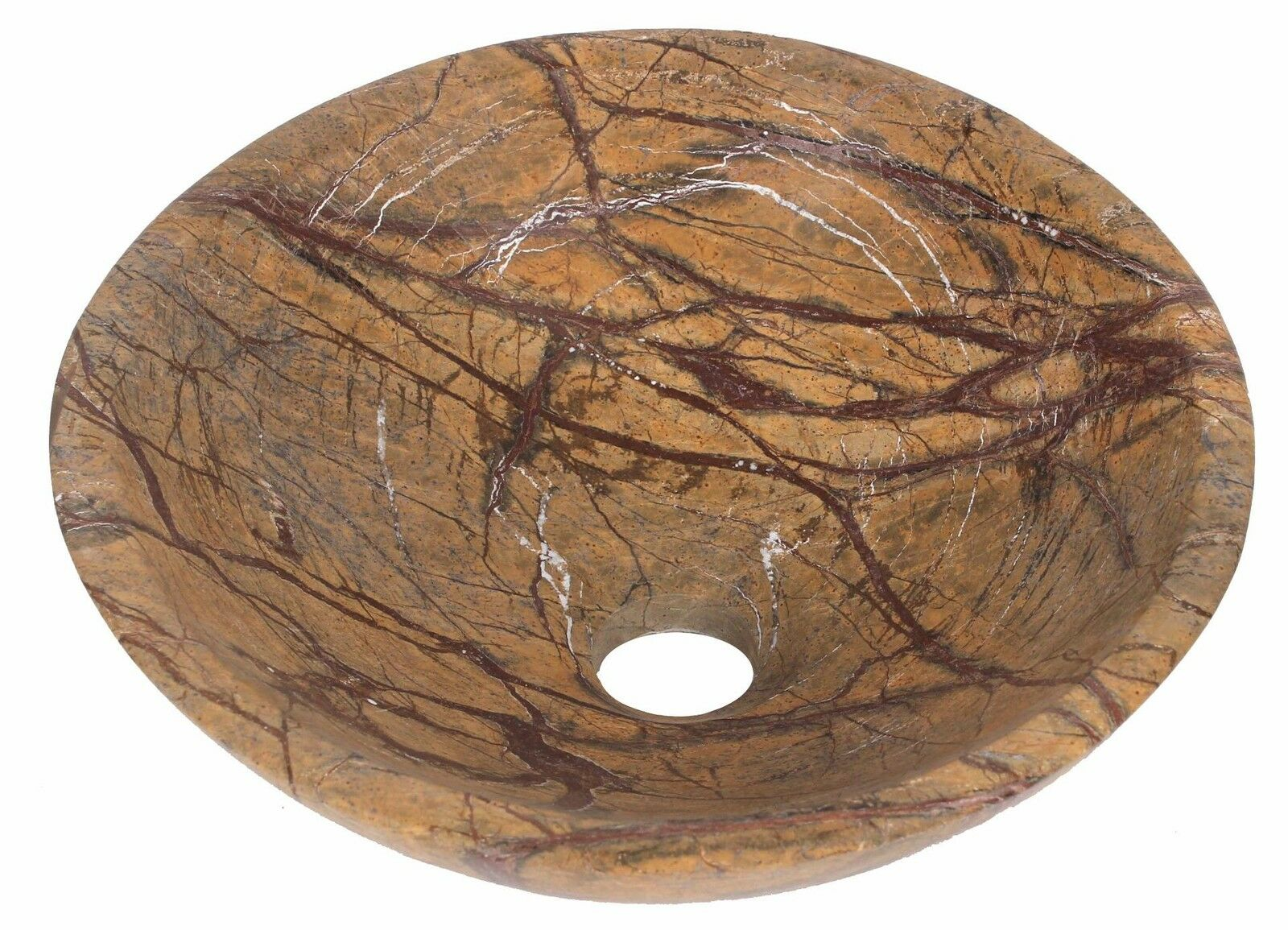 Rain Forest marrón Marble Hand Wash Basin Bowl Bathroom 350mm diameter (B0048)
