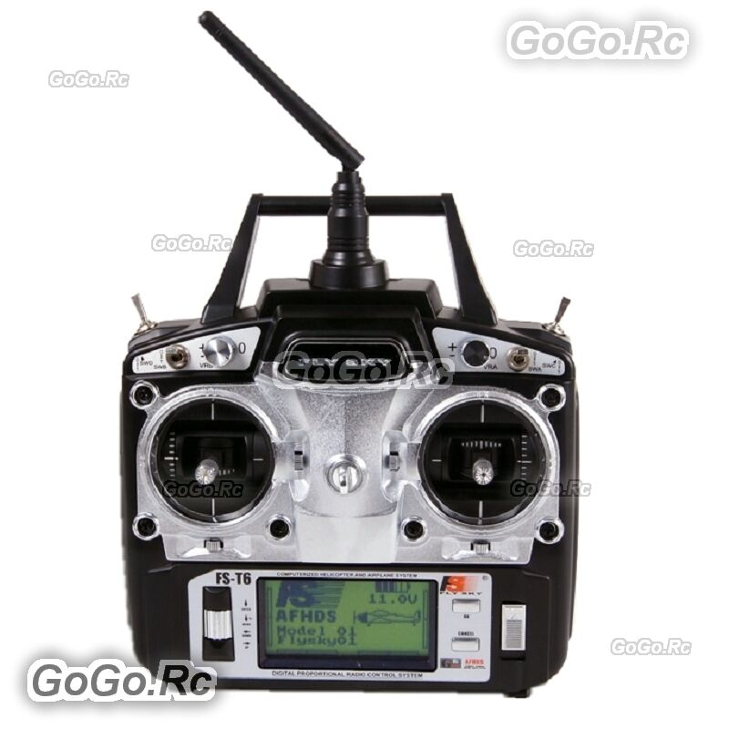 FS-T6 Flysky AFHDS 2.4GHz 6CH Transmitter & FS-R6B Receiver for RC Helicopter