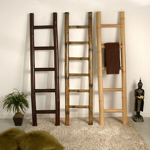 bambus handtuchhalter natur bambusleiter leiter bambusrohr bad garderobe bamboo ebay. Black Bedroom Furniture Sets. Home Design Ideas