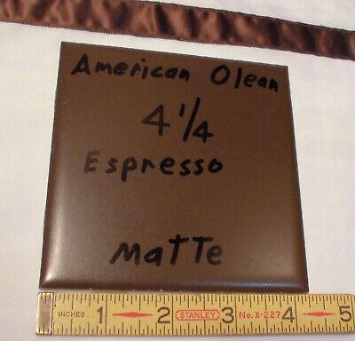 "Octagon Ceramic Tile 4-1//4/"" *Black-Charcoal* Crystalline American Olean 1 pc"