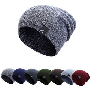 Women-Men-Camping-Has-Winter-Beanie-Baggy-Warm-Wool-Ski-Cap-Fleece-Line-Unisex