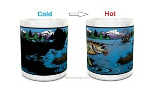 Wondermugs Color Changing Gone Fishing Coffee Cup Mug