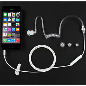 Acoustic-Air-Tube-3-5mm-Anti-radiation-Mono-Single-Stereo-Earphone-Headset-w-Mic
