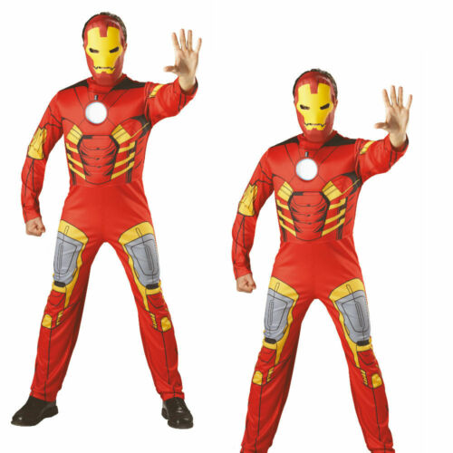 Mens Marvel Iron Man Deluxe Costume Official Avengers Outfit Adult Fancy Dress