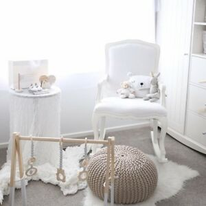 Marvelous Details About Baby Nursing Wooden Rocking Chair White Grey Arm Chair Rocker Feeding Nursery Pabps2019 Chair Design Images Pabps2019Com