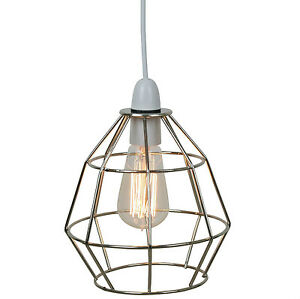 Industrial Style Ceiling Light Cage Standard Lamp Shade Pendant Lampshade