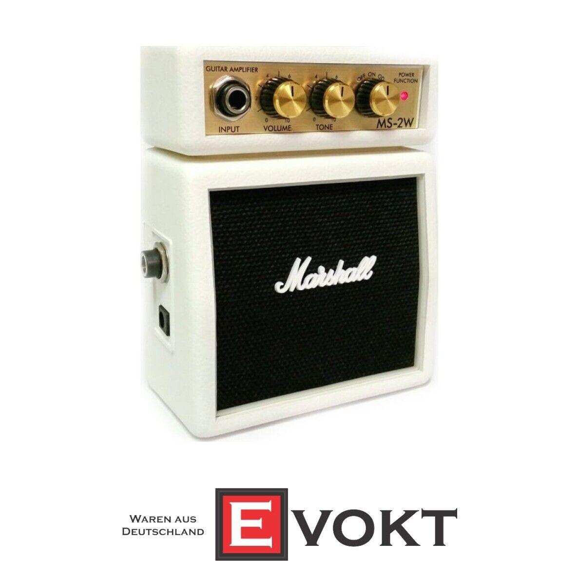 Marshall MS-2W Weiß Mini-amp Microbe Guitar Verstärker Perfektes Geschenk