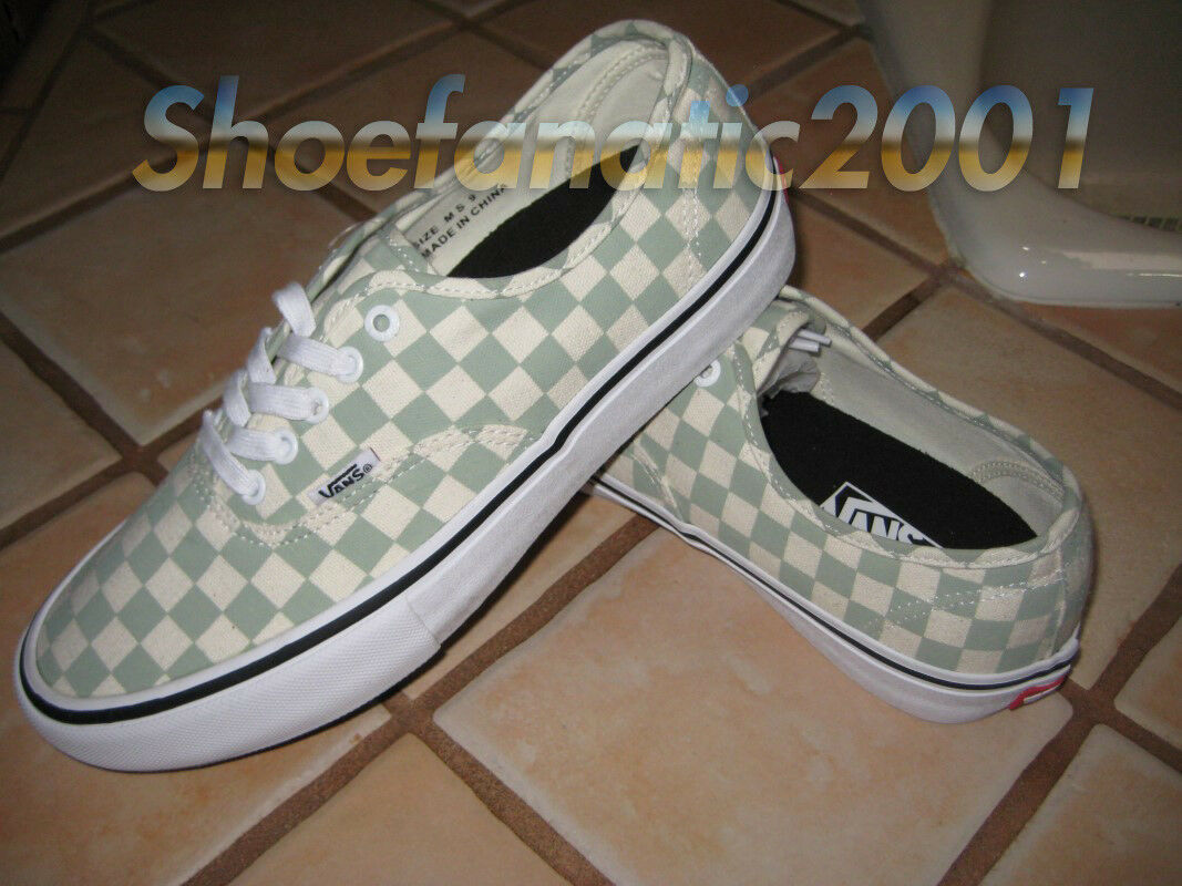 Vans Sample Authentic Pro Desert Sage Checkerboard 9 Skateboarding Ultra Cush