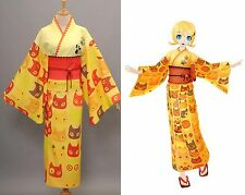 Vocaloid Hatsune Miku Project DIVA Yukata Kimono Rin Halloween Cosplay Costume