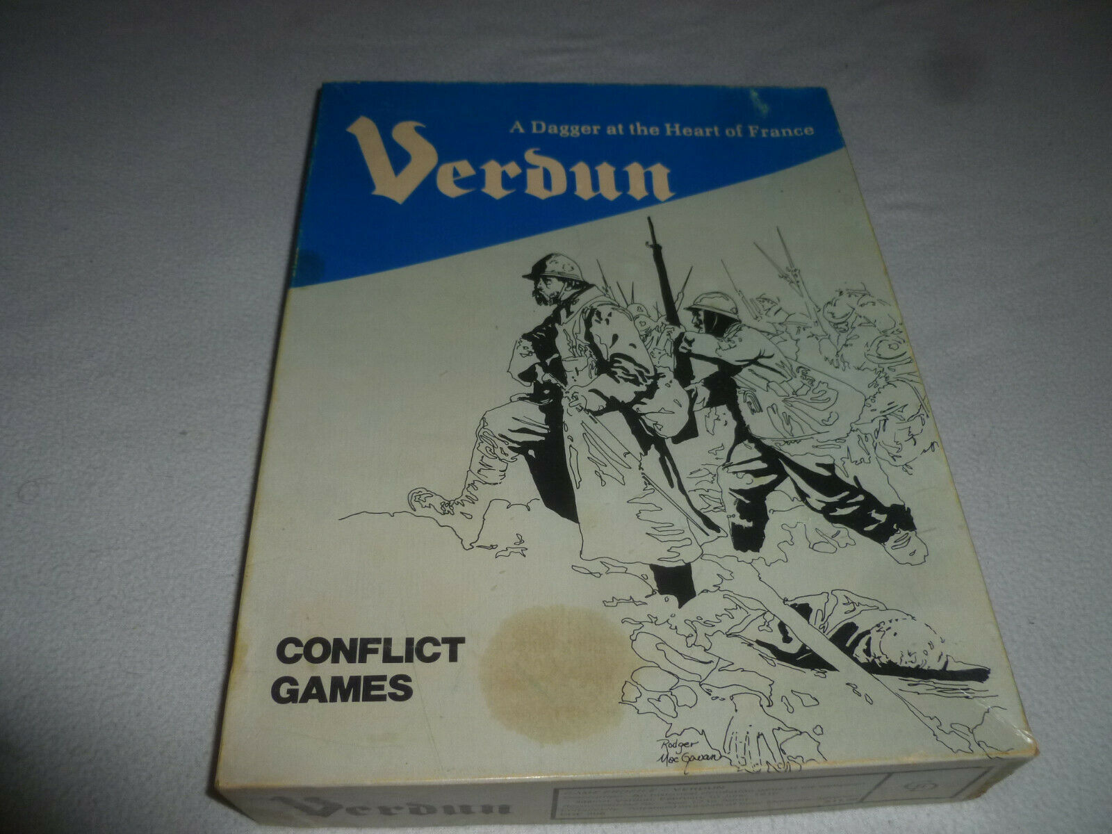 BOARD GAME VERDUN CONFLICT GAMES VINTAGE PUNCHED A DAGGER AT THE HEART OF FRANCE