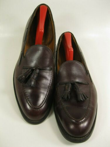 ALDEN Burgundy Leather Tassel Loafers Size 11.5 C