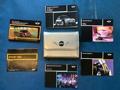 2001-2006 R50//R53 BMW Mini One//Cooper//S Owners Handbook /& Case