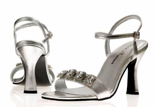 Mesdames Argent pour Femme Soirée bal nuptiale demoiselle d/'honneur Parti Chaussures Lexi toutes tailles