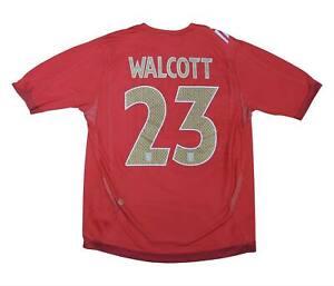 England 2006-08 ORIGINALE AWAY SHIRT WALCOTT #23 (eccellente) L soccer jersey