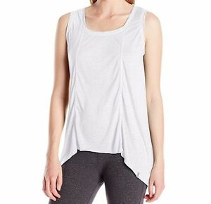 Marc-New-York-Performance-Women-039-s-Seamed-High-Low-Tank-Top-White-Size-Small