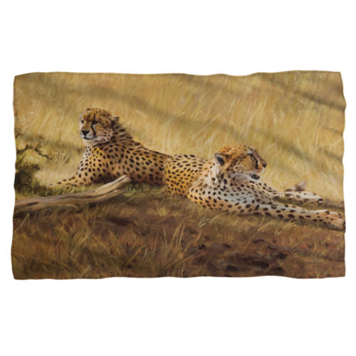 Wild Wings Art AFRICAN CATS Cheetahs Lightweight Polar Fleece Throw Blanket