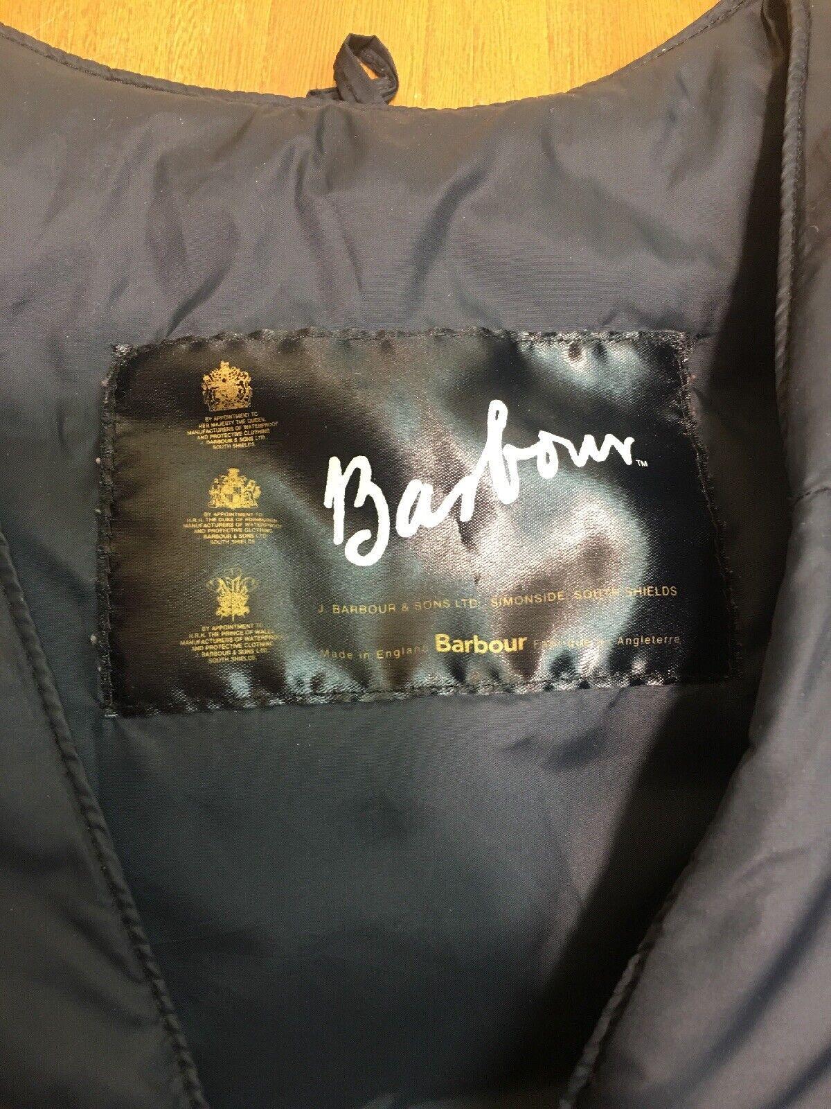Barbour Men's Down Puffer Nylon Black Vest Size 4… - image 2