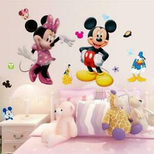 Sweet-Mickey-Mouse-Minnie-Vinyl-Wall-Sticker-Decals-Kids-Nursery-Room-Decoration