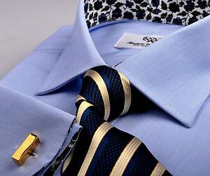 de Formal Chemise en Fashion popeline Lisse Designer d'affaire ville Floral Stylish bleue 2EDWIHY9