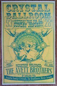 AVETT-BROTHERS-2007-Gig-POSTER-Portland-Oregon-Concert