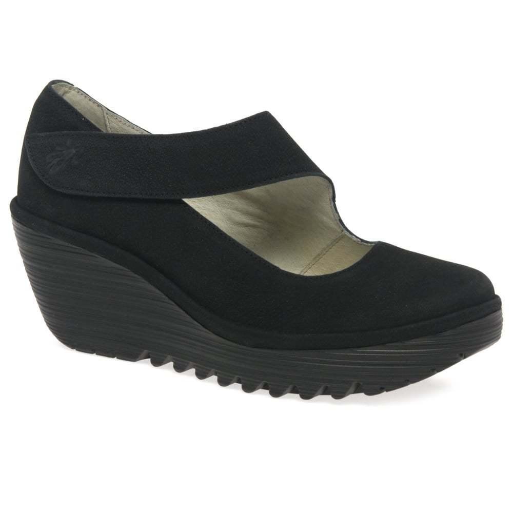 Fly London Yasi con da donna casual tacco con Yasi zeppa scarpe 438226