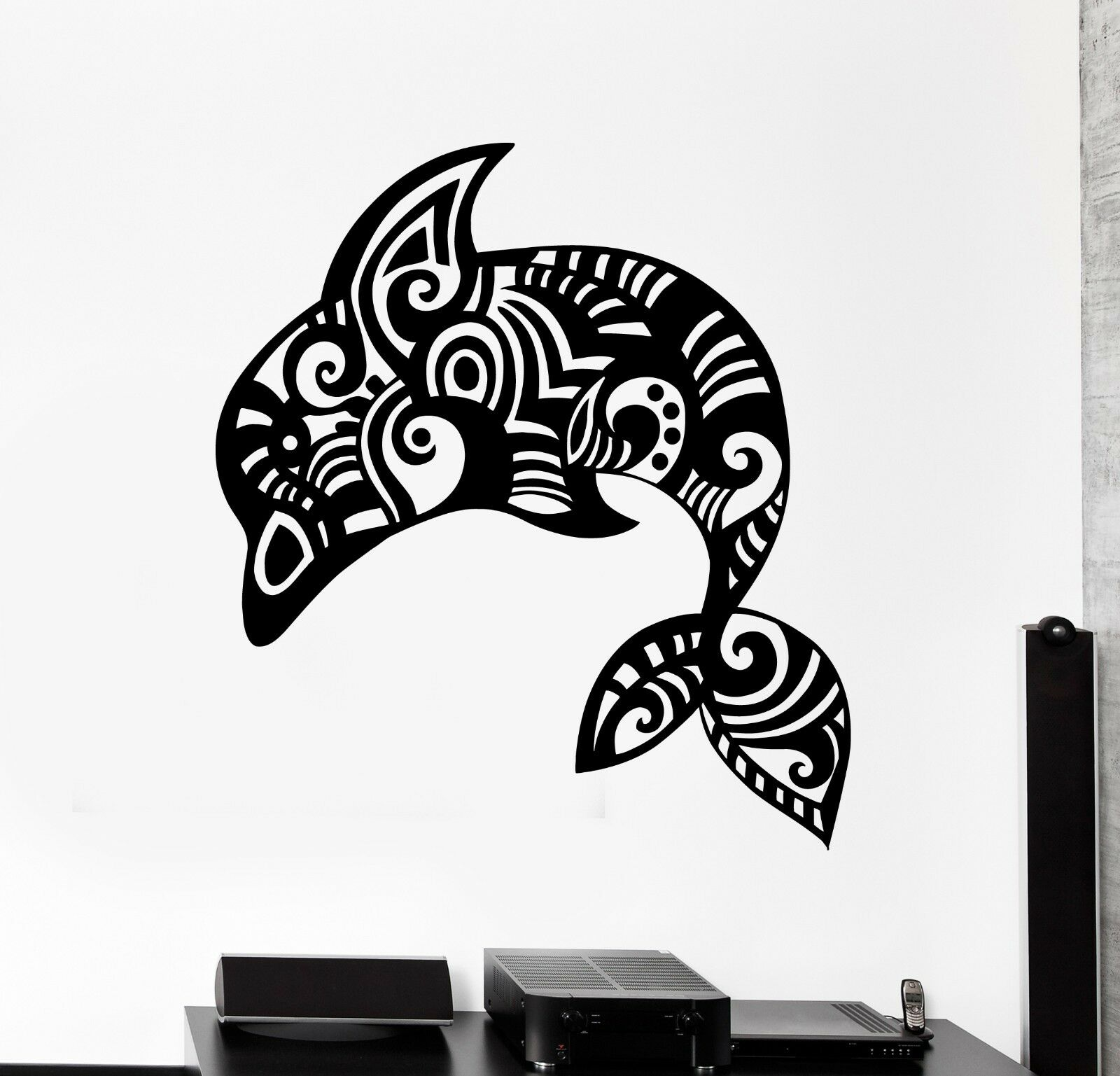 Wand Vinyl Ocean Sea Dolphin Ornament Mural Vinyl Decal (z3338)