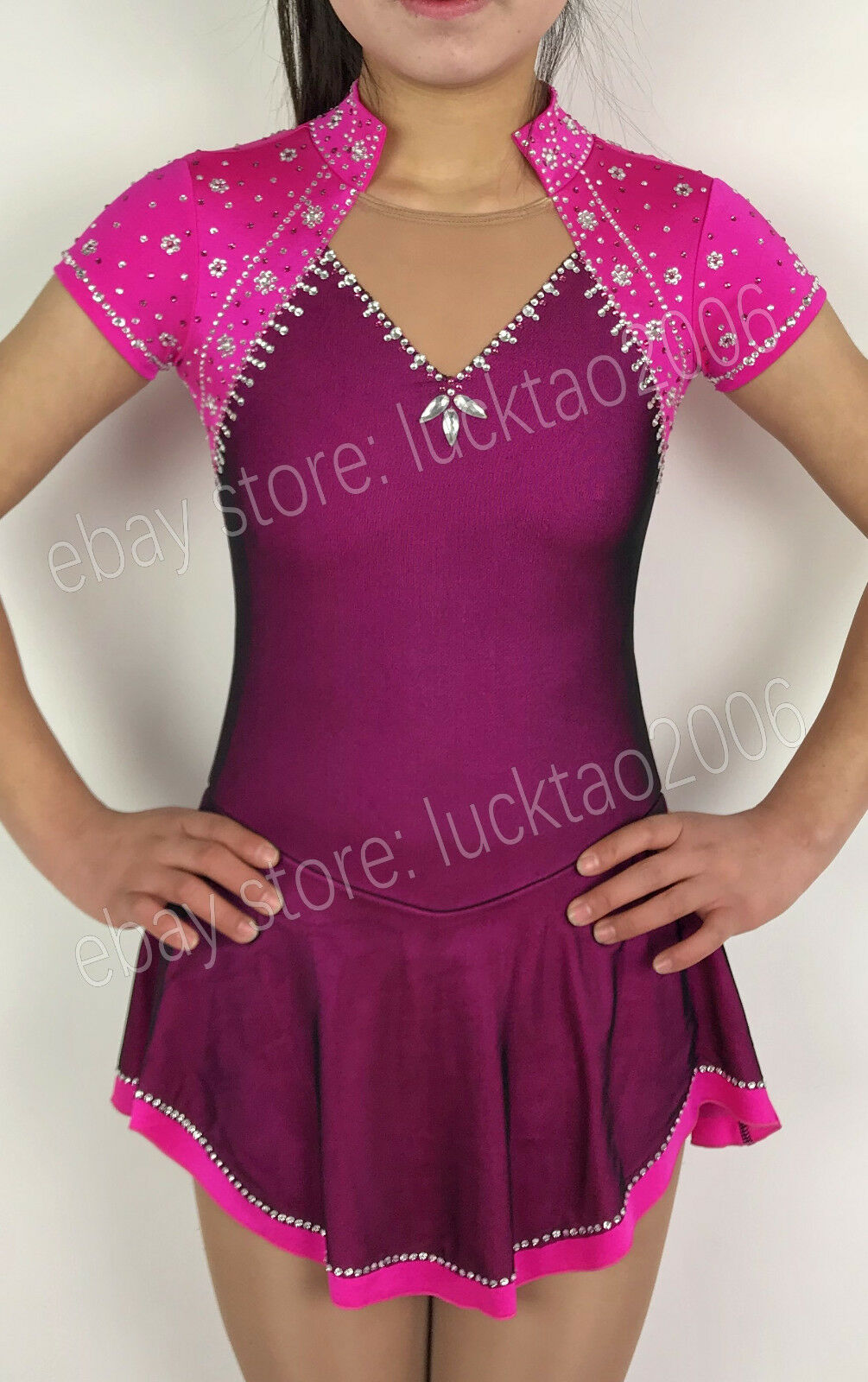 New style Figure skating Ice Skating Dress Gymnastics Costume  S8810-3  up to 70% off