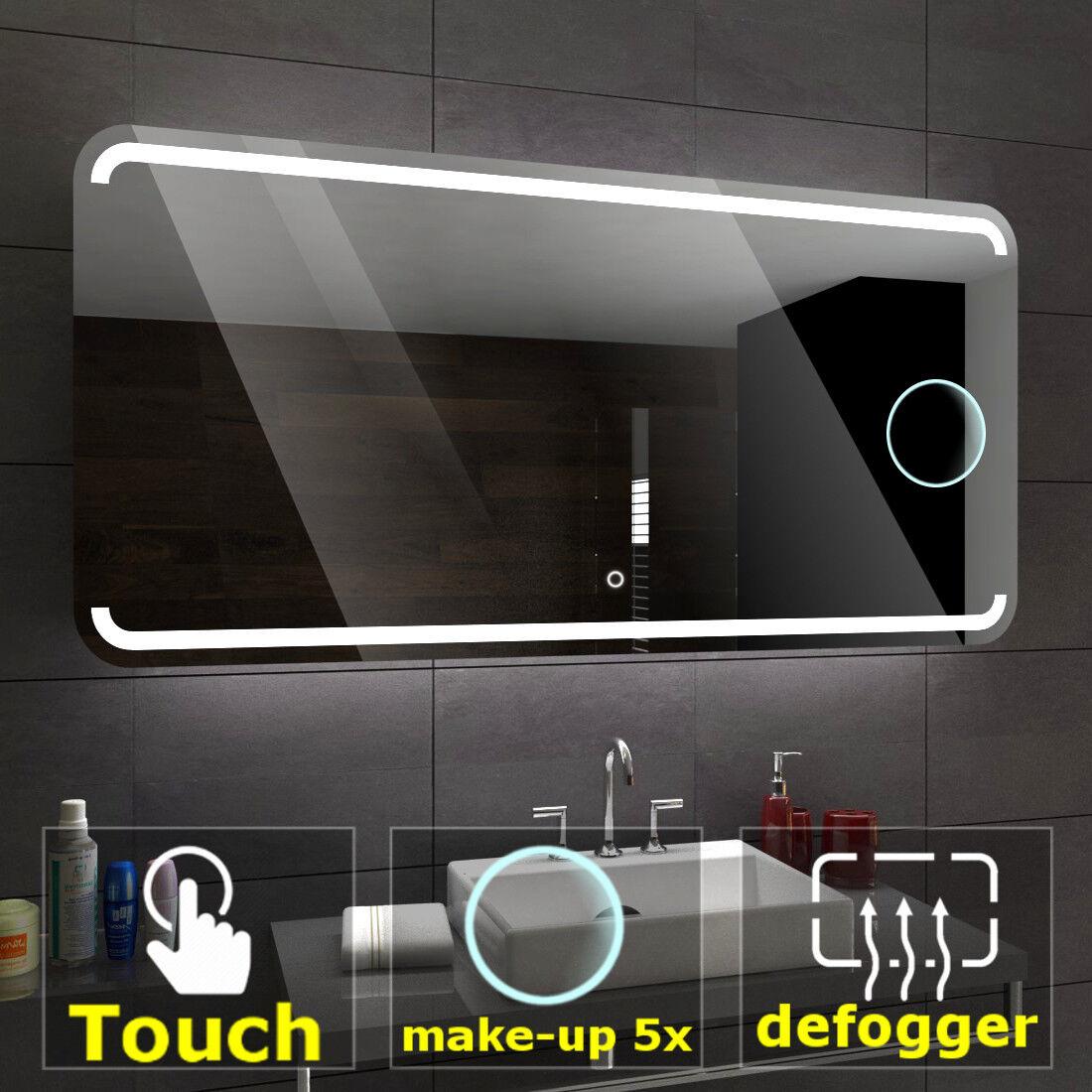 MEDIOLAN Illuminated Led bathroom mirror    Switches   Make-up   Demister pad