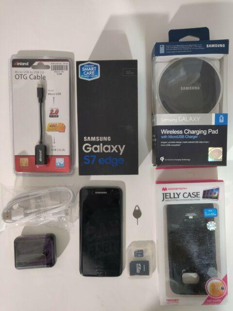 Samsung Galaxy S7 Edge Duos SM-G935FD Factory Unlocked 32GB Black Onyx Dual Sim