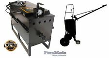 [PAVEMADE] HOTBOX 30 COMBO Pourpot w/ wheels+ rubberized asphalt kettle sealcoat