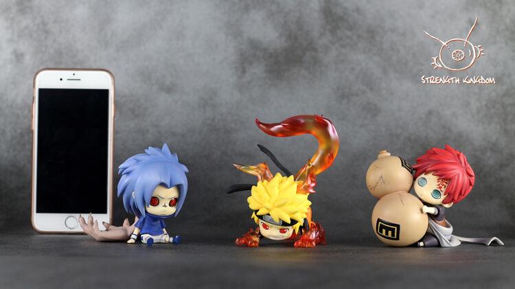 Naruto Sasuke Gaara Q Lovely Baby Nipple Figure Model 3pcs Be