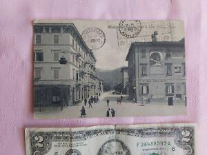 VINTAGE MONTECATINI HOTEL CORONA ITALY 1923 MONTEVIDEO POSTCARD BS12