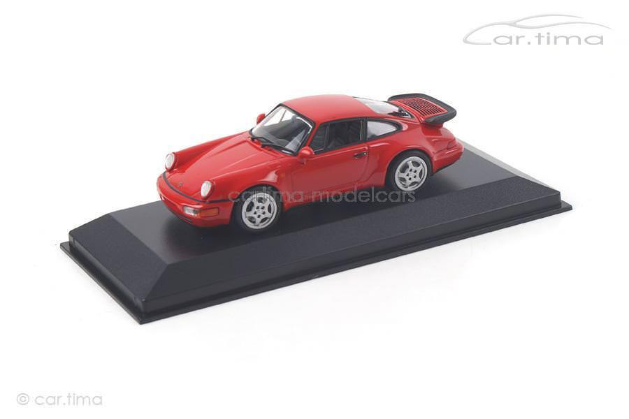 Porsche Porsche Porsche 911 (964) Turbo 1990 - indischrot - Minichamps - 1 43 - 940069102 a23bd0