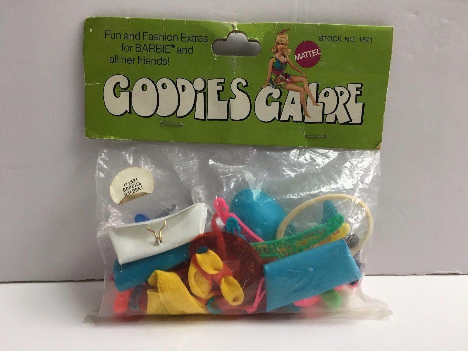 Vintage Raro Barbie Golosinas Galore Sears Exclusivo Accesorios nunca quitado de la caja de la menta en paquete de menta en caja menta en tarjeta