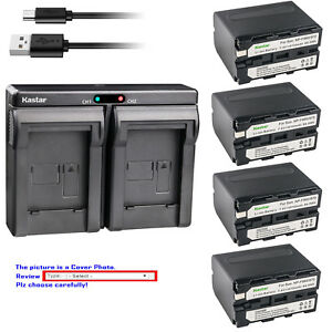 Kastar-Battery-Dual-USB-Charger-for-Sony-NP-F970-NP-F570-Sony-BC-VM50-BC-V615
