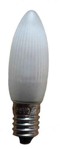 3 LED Topkerze Riffelkerze matt frosted satiniert E10 0,2W 14V-55V Ersatz Set