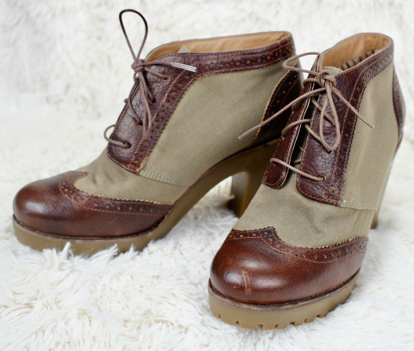 Sperry Top-Sider Emory Lace-up Heel Bootie Schuhes Damenschuhe 8.5 M Tan Olive 3
